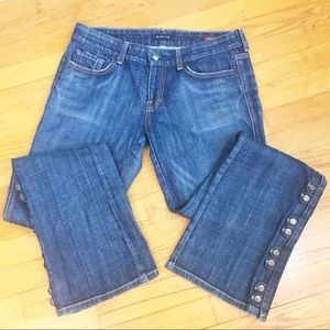Citizens of Humanity boot cut Button Jeans EUC